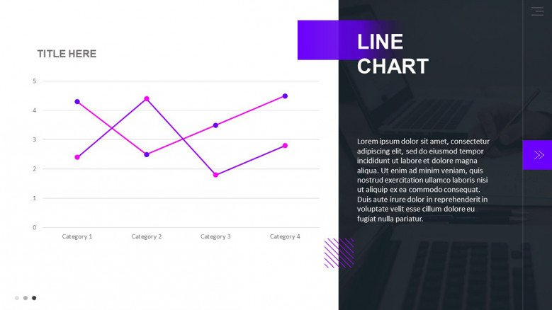 Line Chart Slide for a Pitchbook presentation