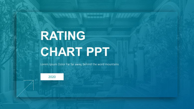 Rating Chart PowerPoint Slide in blue