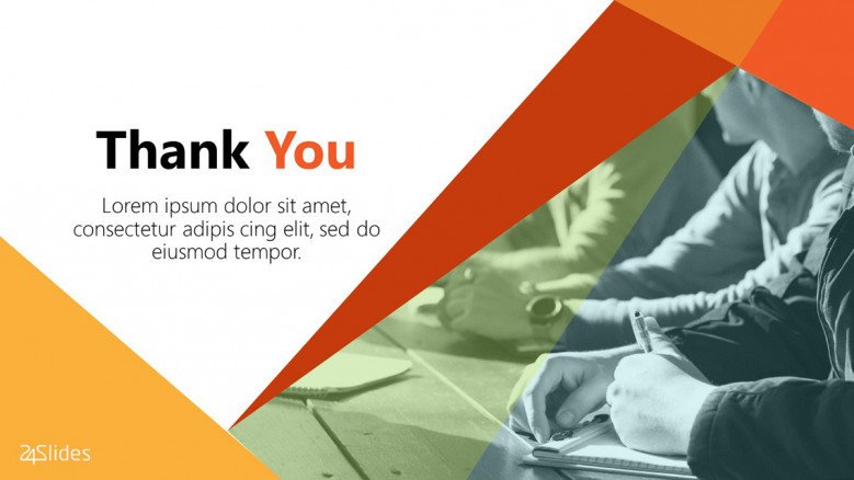 Colorful Thank You Slide