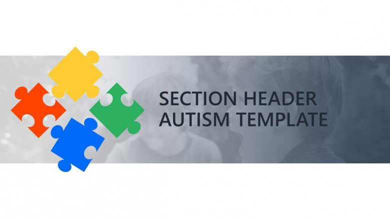 Section header slide with puzzle pieces