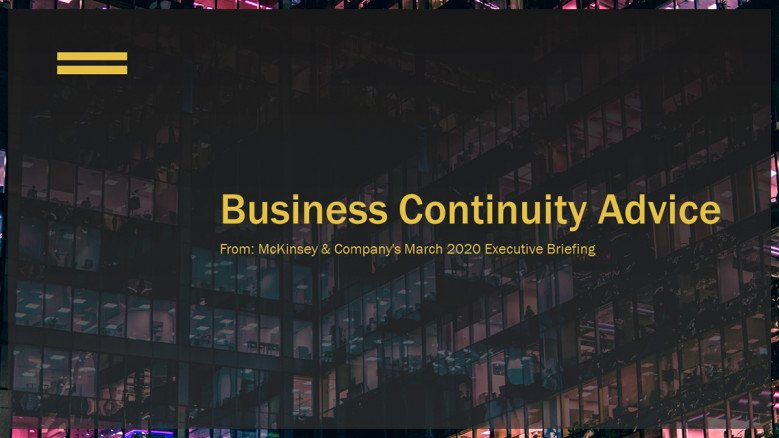 McKinsey Business Continuity Advice Presentation