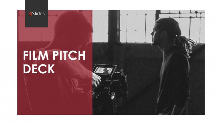 Film Pitch Deck Template in black and red