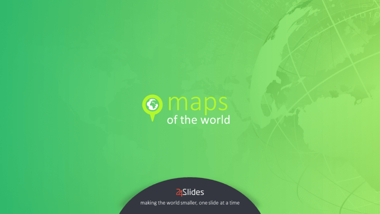 welcome slide to world map presentation