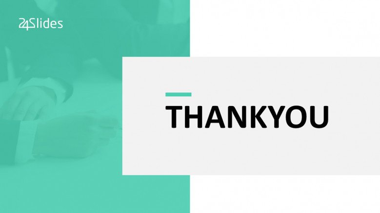 Corporate thank you slide in tidal