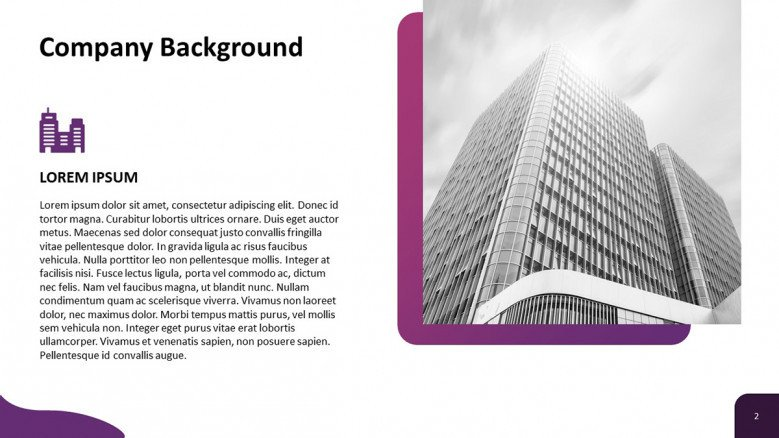 Company Background Slide