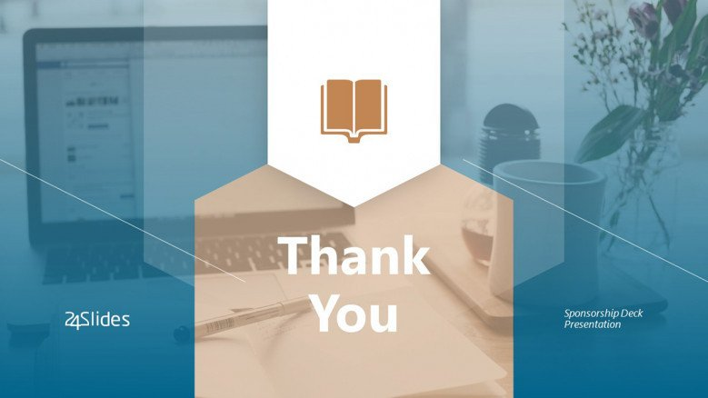 Creative Thank You Slide for a Sponsorship Deck