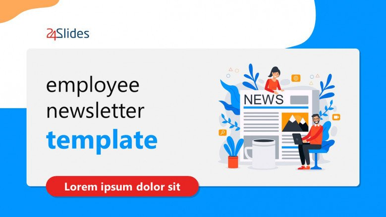 Employee Newsletter Template in creative style