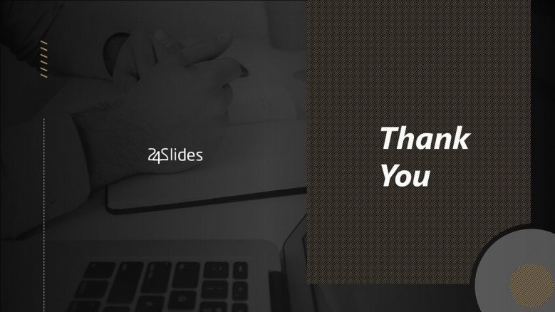 PowerPoint Thank You Slide in Black