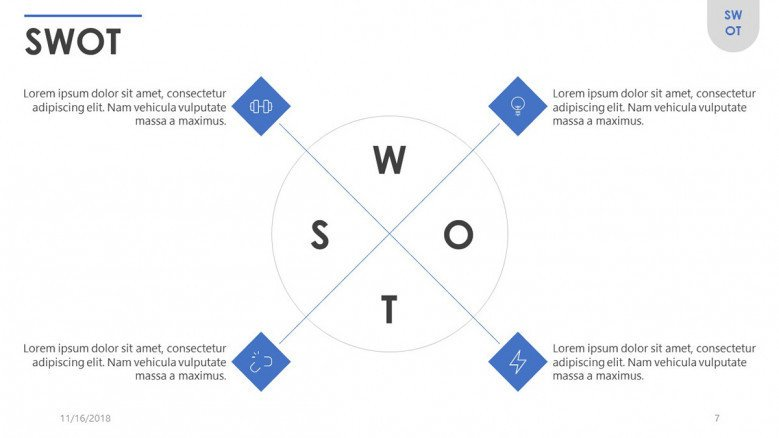 Swot Free Powerpoint Template