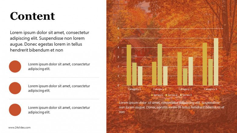 PowerPoint Text Slide with Fall Background