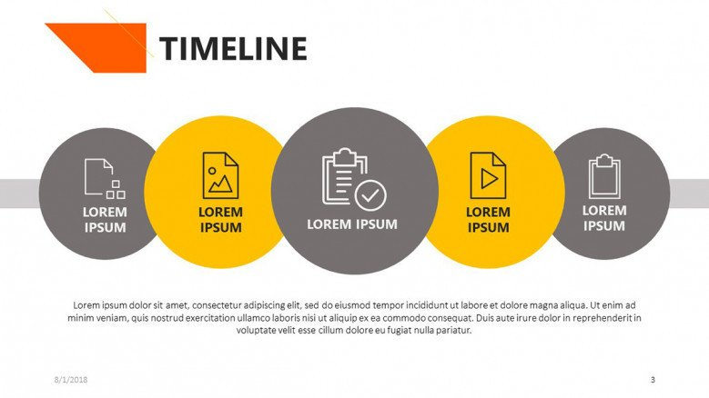 timeline slide for academic presentation