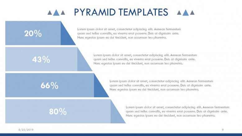 Pyramid Diagram with percentages