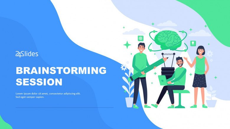 Brainstorming Session PowerPoint template