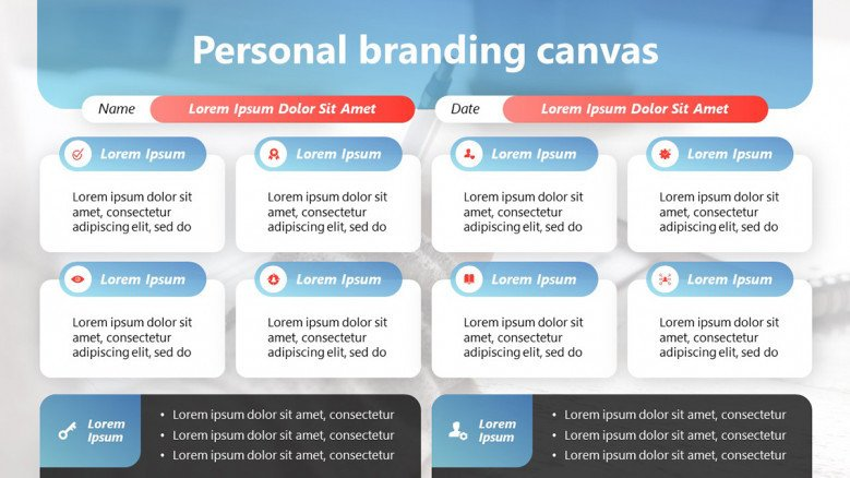 Personal Branding Canvas for creative professionals