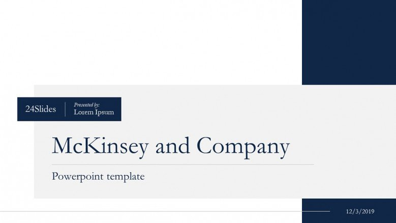 Title Slide in McKinsey & Company Style