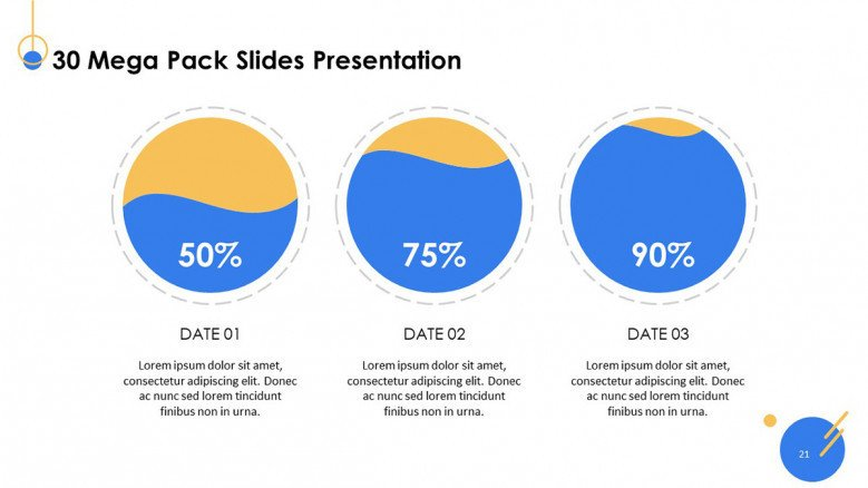 playful pie chart with data in comparison