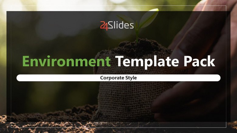 environmental deck welcome slide in corporate style