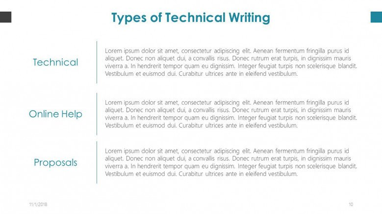 copy writer techniques of writing slide