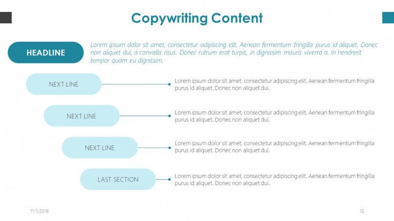 copy writing content structure chart