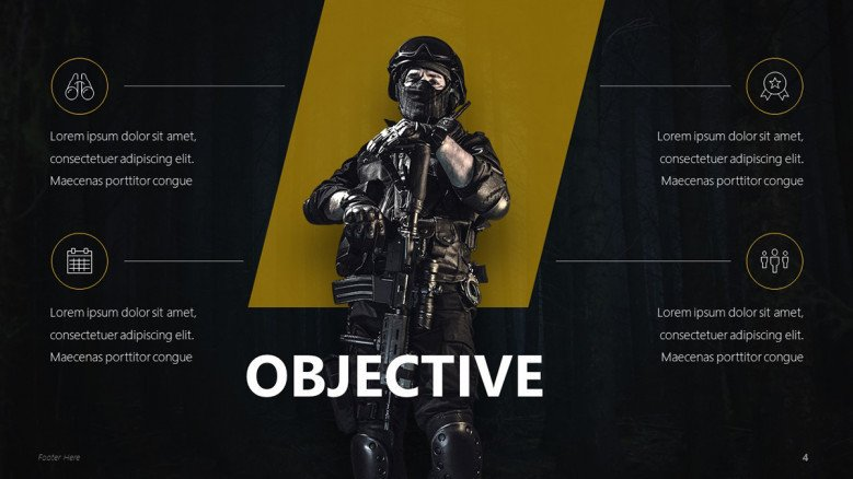 Shooter Game Objectives Slide