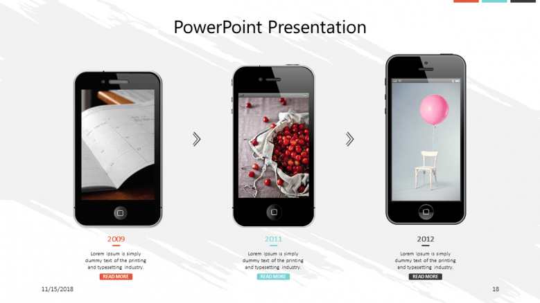 corporate presentation in mobile app