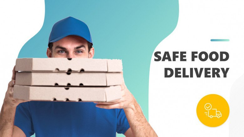 Safe Food Delivery PowerPoint Template
