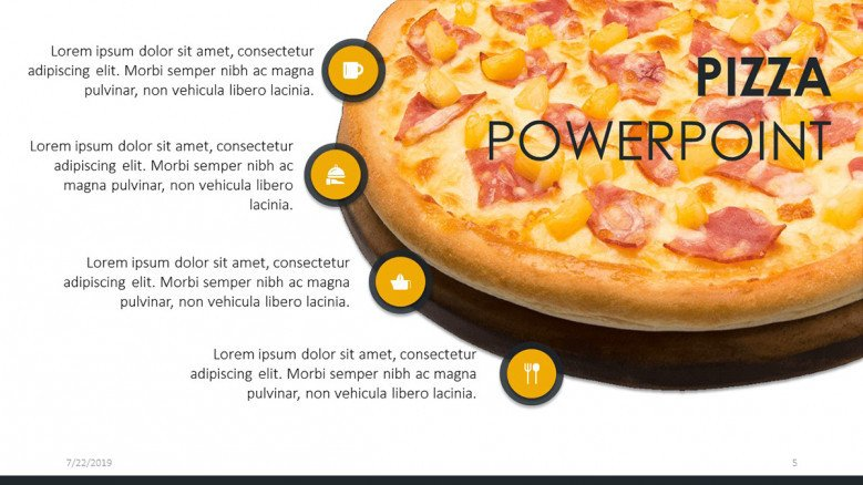 Four-points list with pizza image