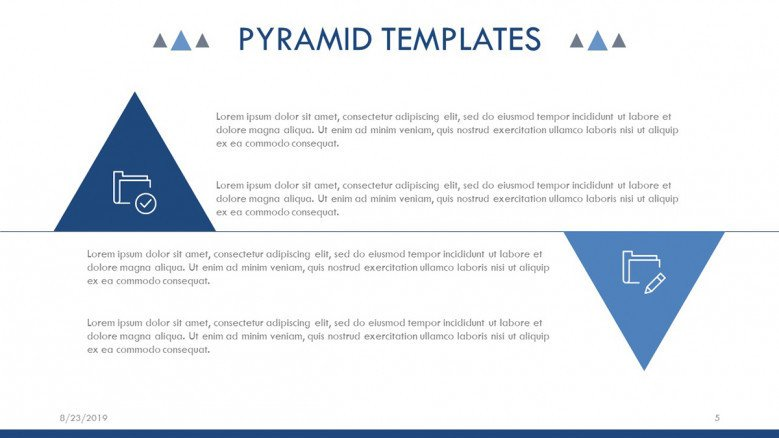 Text Slide with triangles