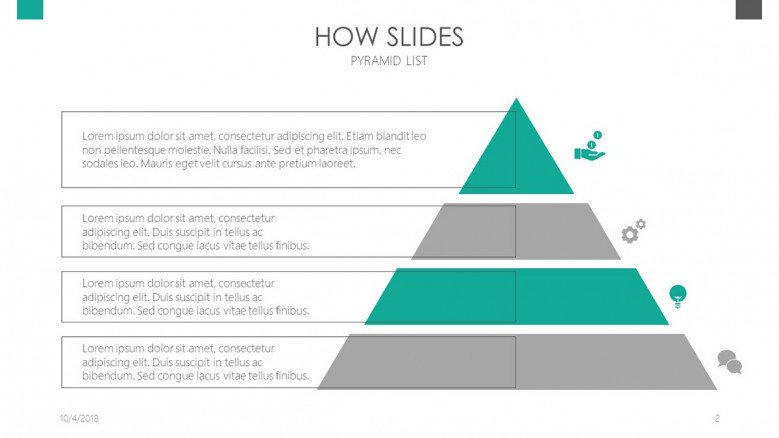 explaining how in a pyramid chart