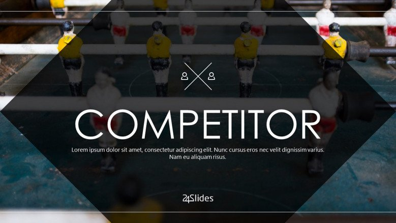 welcome slide for competitor presentation in corporate style