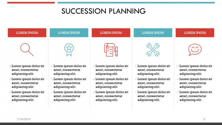 Succession Planning Steps Slide