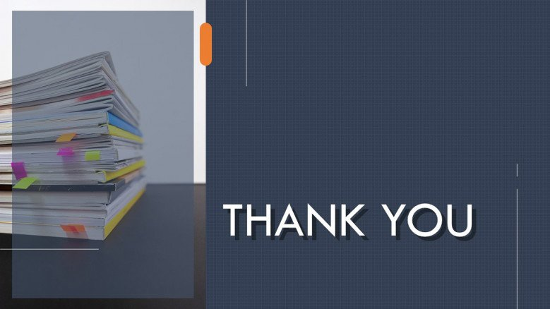 Grey Thank You Slide for a corporate presentation