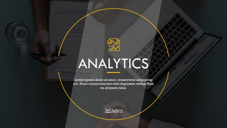 welcome slide for analytics presentation