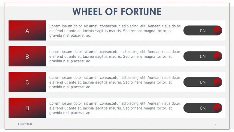 Wheel of fortune answers list