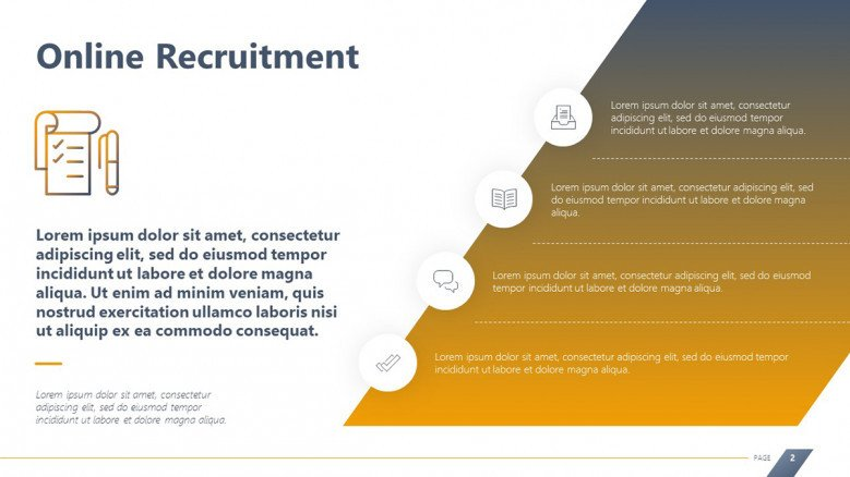 Online Recruitment Service Slide