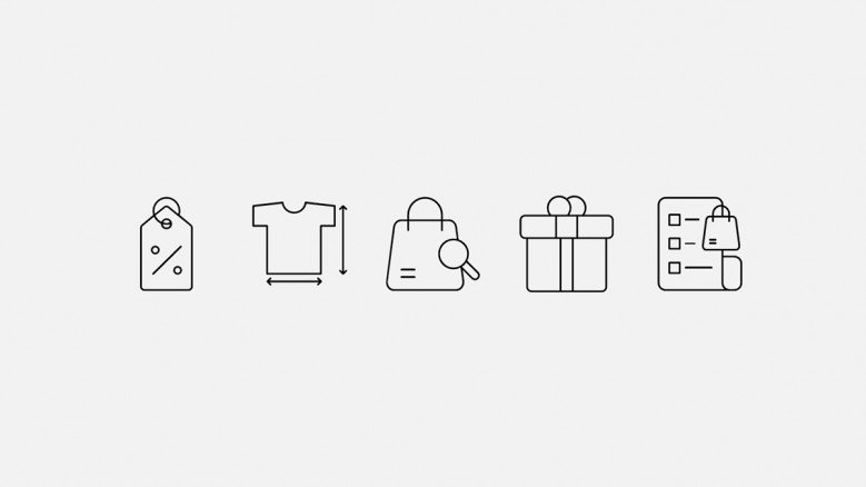 Icons for e-commerce company presentations