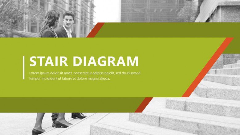 welcome slide for stair diagram in corporate style