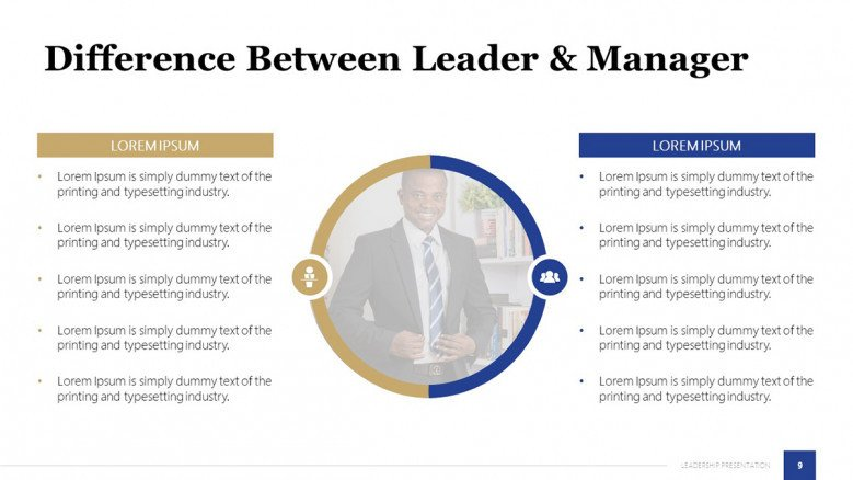 Leader Vs Manager Slide