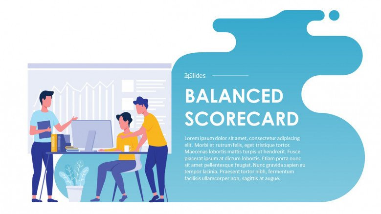 Balanced Scorecard PowerPoint Template in creative style