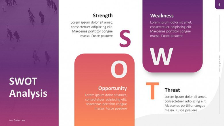 Creative SWOT Matrix Slide
