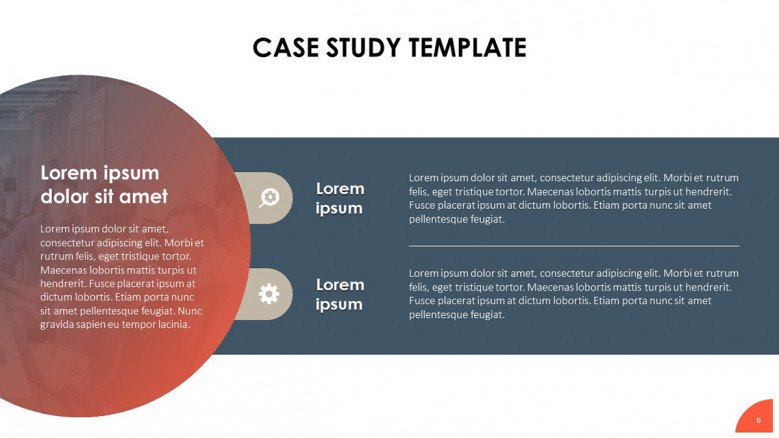 Creative text slide for a business case study