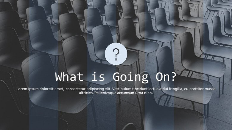 welcome slide for what is going on presentation