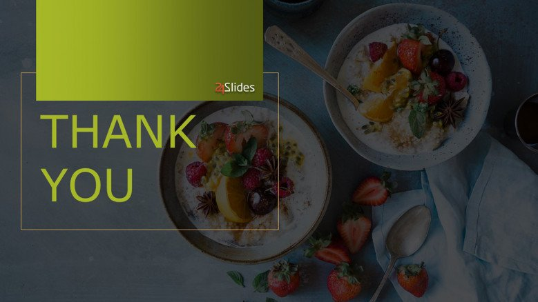 Creative thank you slide