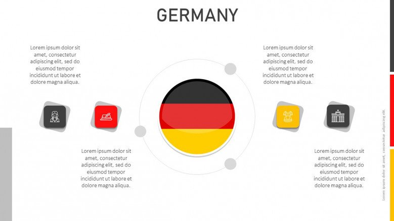 Germany Flag slide with text boxes