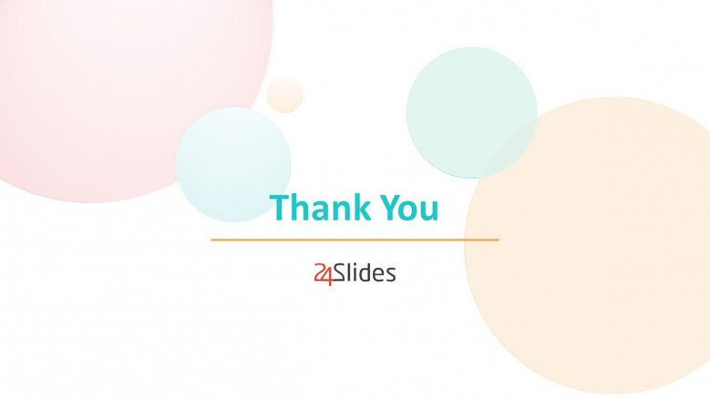 Thank You Slide in pastel colors