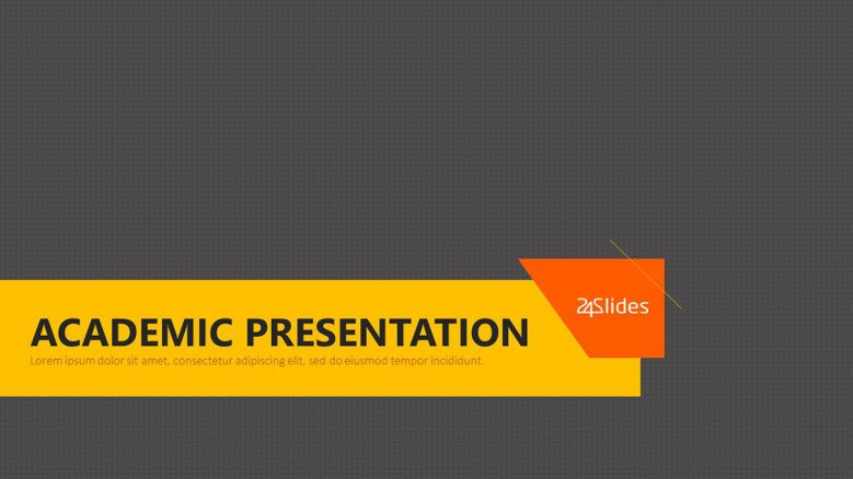 welcome slide for academic presentation