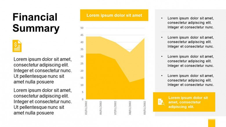 Yellow Financial Summary PowerPoint Template