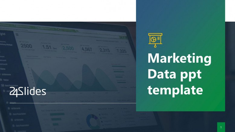 Marketing Data PowerPoint Template in creative style
