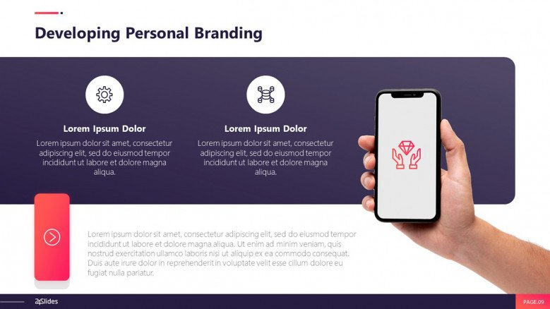 Personal branding powerpoint template