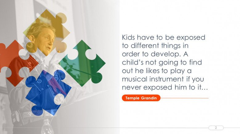 Quote Slide for an Autism Presentation